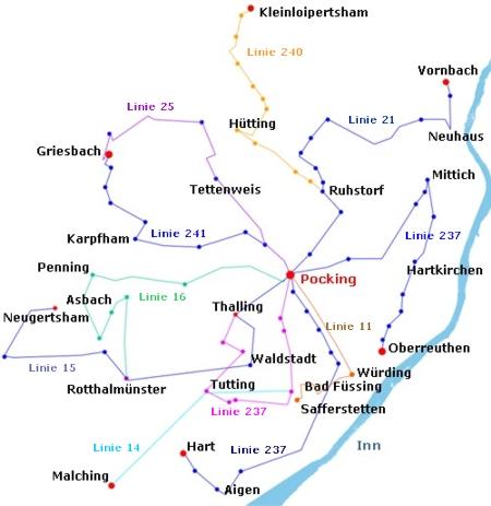 Frühbus-Linien